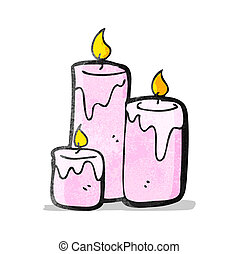 cartoon scented candles