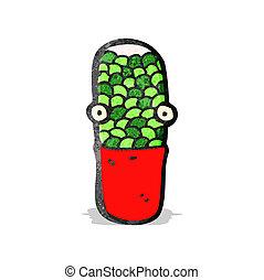 cartoon medical capsule pill