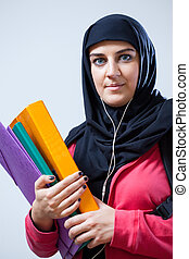 Arab female student
