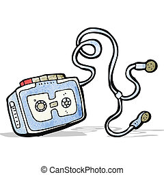 personal cassette player cartoon