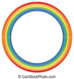 rainbow circle isolate in a white background