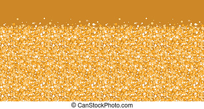 Vector golden shiny glitter texture horizontal border seamless pattern background