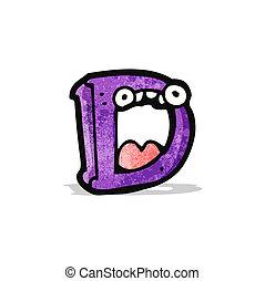 cartoon letter d