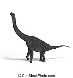Brachiosaurus - giant dinosaur brachiosaurus With Clipping...