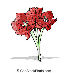 red flowers illustration
