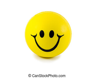 Smiley face isolated on white background