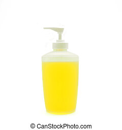 dishwashing liquid isolated on white background