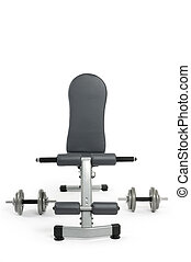 Exercise Bench - Exercise bench and dumbbells Gym equipment...