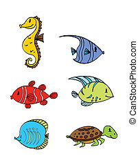 Sea Under Water Animal Collection