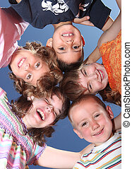 Five Silly Friends Huddles and Laughing - Group of Five...
