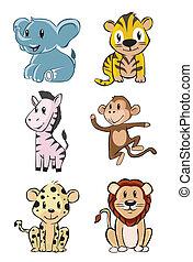 Cute Animal Safari Baby Set
