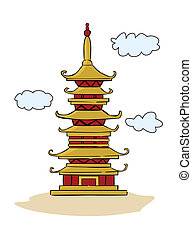 Chinese Temple Pagoda