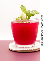 Fresh Mint In A Refreshing Drink - Mint is used to add a...