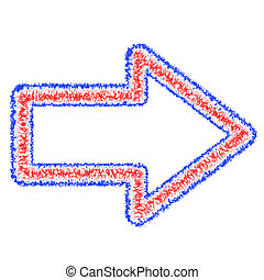 Abstract Outlined Arrow