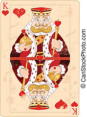 King of hearts - Illustration of king of hearts card