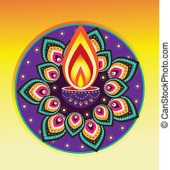diwali candle light - Indian new year element