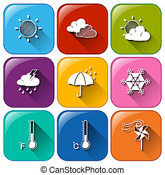 Icons with the different weather conditions