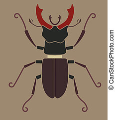 stag beetle silhouette