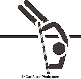 pole vault icon - Summer sports icons - pole vault icon