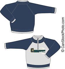 男の子, セーター, ジャケット
