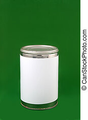 Tin can with blank label
