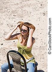 Girl in desert
