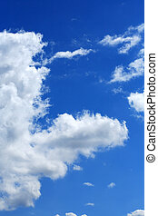Freakish Cloud - Big freakish cloud on blue sky background