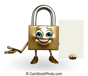 Lock Character with sign