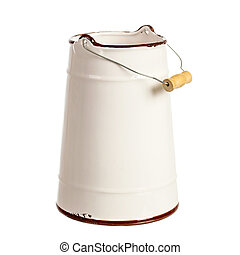 Milk can isolated over white