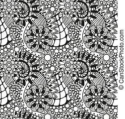 Zentangle seamless pattern