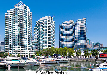 Downtown Toronto Waterfront, taken from the shore of Lake...