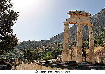 Old Delphi temple - Photo shows old Delphi temple in the...