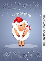 Funny sheep for Christmas