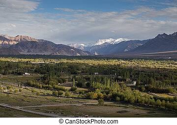 Beautiful scenery, Leh, Ladakh, Jammu and Kashmir, India