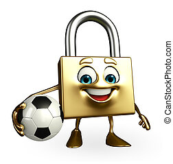 Lock Character with football