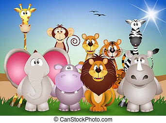 Animals of the Savannah background