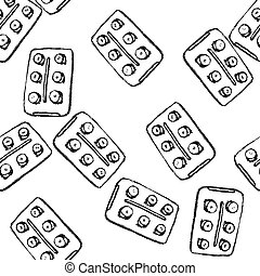 Sketch tablets pachege in vintage style, seamless pattern