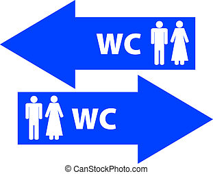 wc - toilet signs