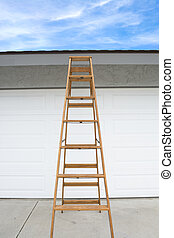 Ladder in front of house
