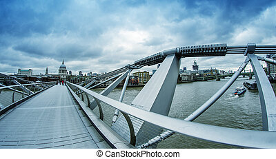 The Millennium Bridge, London.