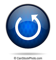 arrow internet blue icon