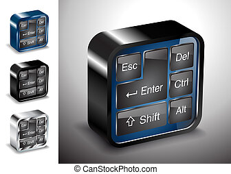 computers electronics icons keyboard button device