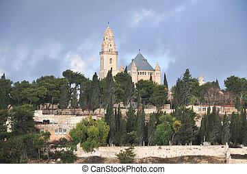 Mount Zion and the Abbey of the Dormition, Israel - Mount...
