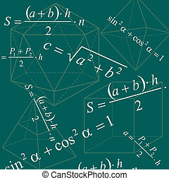 math background - Math geometry backround with formulas and...