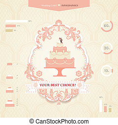 Wedding infographics - Set of icons and graphics for wedding...