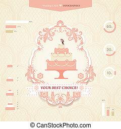Wedding infographics - Set of icons and graphics for wedding...