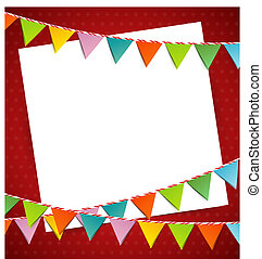 Bunting party color flags - Vector illustration of Bunting...