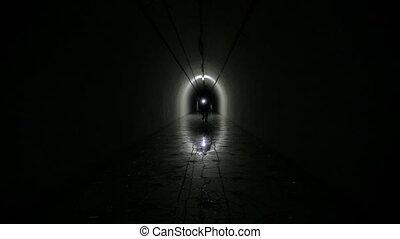 Man Silhouette in a  bunker
