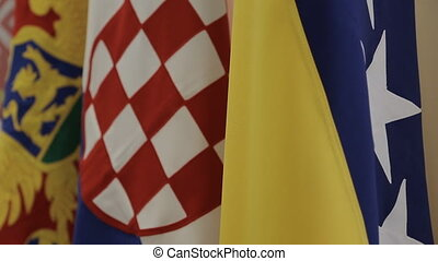 Flags of Bosnia, Croatia, Serbia