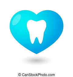 Heart with a tooth